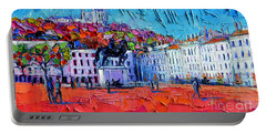 Urban Impression - Bellecour Square In Lyon France Portable Battery Charger