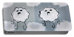 Portable Battery Charger featuring the photograph Urban Rain Clouds by Art Block Collections
