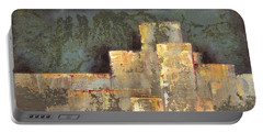 Portable Battery Charger featuring the painting Urban Renewal II by Shadia Derbyshire