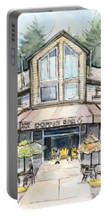 Coffee Shop Watercolor Sketch Portable Battery Charger