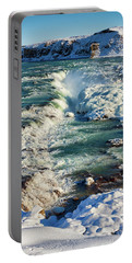 Portable Battery Charger featuring the photograph Urridafoss Waterfall Iceland by Matthias Hauser