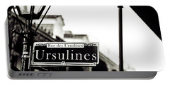 Ursulines In Monotone, New Orleans, Louisiana Portable Battery Charger