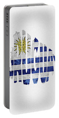 Uruguay Typographic Map Flag Portable Battery Charger