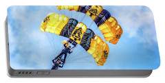 Portable Battery Charger featuring the photograph U.s. Army Golden Knights by Nick Zelinsky