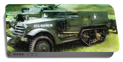 U.s. Army Halftrack Portable Battery Charger by Michael Cleere
