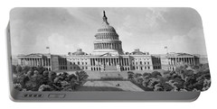 Us Capitol Building Portable Battery Charger by War Is Hell Store