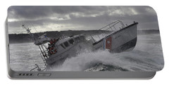 Portable Battery Charger featuring the photograph U.s. Coast Guard Motor Life Boat Brakes by Stocktrek Images