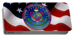 U. S. Defense Intelligence Agency - D I A Emblem Over Flag Portable Battery Charger