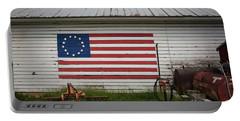 Us Flag Barn Portable Battery Charger