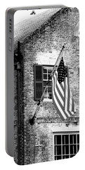 Us Flag In Colonial Williamsbug Portable Battery Charger