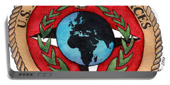 Portable Battery Charger featuring the painting U.s. Marine Corps Forces Europe - Africa by Betsy Hackett