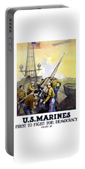 Us Marines -- First To Fight For Democracy Portable Battery Charger
