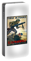 Us Marines - First In France Portable Battery Charger