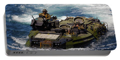 U.s. Marines Transit The Open Water Portable Battery Charger