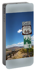 Us Route 66 Sign Arizona Portable Battery Charger