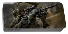 U.s. Special Forces Soldier Armed Portable Battery Charger