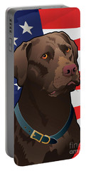 Usa Chocolate Lab Portable Battery Charger