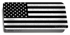 Portable Battery Charger featuring the digital art Usa Flag Hidef Super Grunge Patina by Bruce Stanfield