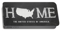 Portable Battery Charger featuring the mixed media Usa Home by Nancy Ingersoll