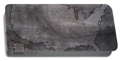 Usa Map Outline On Concrete Wall Slab Portable Battery Charger