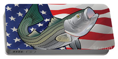 Usa Rockfish Striped Bass Portable Battery Charger