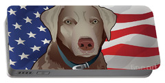 Usa Silver Lab Portable Battery Charger