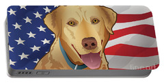 Usa Yellow Lab Portable Battery Charger