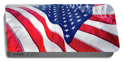Portable Battery Charger featuring the photograph Usa,american Flag,rhe Symbolic Of Liberty,freedom,patriotic,hono by Jingjits Photography