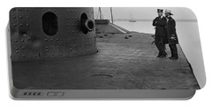 Uss Monitor - Deck View And Turret - 1862 Portable Battery Charger