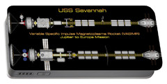 Portable Battery Charger featuring the digital art Uss Savannah Profile by David Robinson