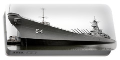 Uss Wisconsin - Port-side Portable Battery Charger by Christopher Holmes