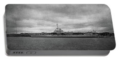 Portable Battery Charger featuring the photograph Uss Yorktown by Sandy Keeton