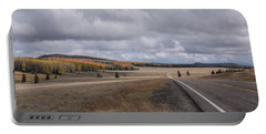 Portable Battery Charger featuring the photograph Utah Highway With Aspens by Frank DiMarco
