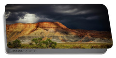 Utah Mountain With Storm Clouds Portable Battery Charger