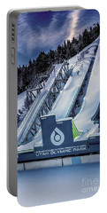Utah Olympic Park Portable Battery Charger by David Millenheft