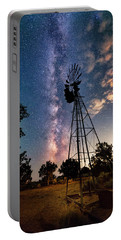 Utah Windmill And Milky Way Portable Battery Charger