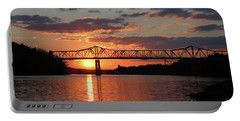 Utica Bridge At Sunset Portable Battery Charger
