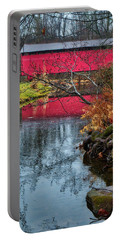 Portable Battery Charger featuring the photograph Utica Covered Bridge by Mark Dodd