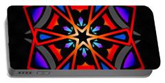 Portable Battery Charger featuring the digital art Utron Star by Derek Gedney