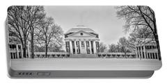 Portable Battery Charger featuring the photograph Uva Rotunda Winter 2016 by Kevin Blackburn