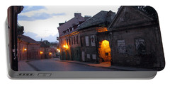 Uzupis Street. Old Vilnius. Lithuania. Portable Battery Charger by Ausra Huntington nee Paulauskaite