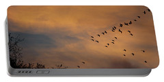 V Formation At Sunset  Portable Battery Charger
