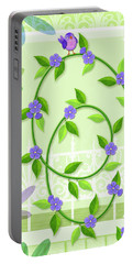 V Is For Vine And Veranda Portable Battery Charger