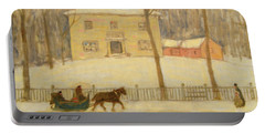 Portable Battery Charger featuring the painting v by James Wilson Morrice