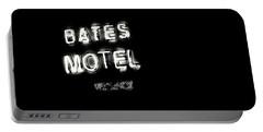 Vacancy At Bates Motel Bw Portable Battery Charger