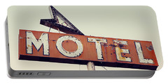 Vacancy Vintage Motel Sign Portable Battery Charger