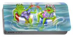 Vacation Happy Frog Couple Portable Battery Charger