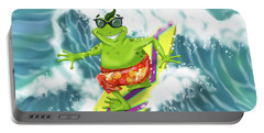 Vacation Surfing Frog Portable Battery Charger