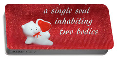Portable Battery Charger featuring the photograph Valentine By Aristotle by Linda Phelps