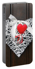 Portable Battery Charger featuring the photograph Valentine Heart by Juergen Weiss